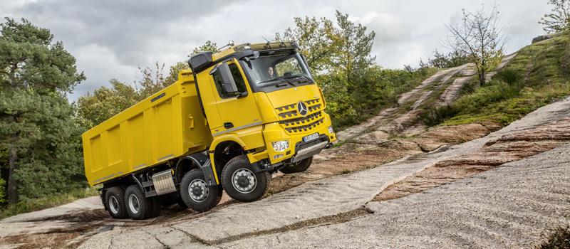 Строительные версии грузовиков Mercedes-Benz