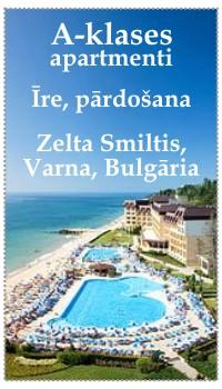 A-klases apartamenti, īre, rārdošana, Bulgārija, Zelta Smiltis, Varna