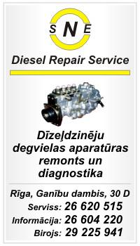 dīzeļu aparatūras diagnostika un remonts - SNE